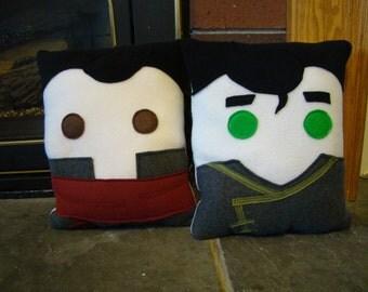 Legend of Korra, Mako and Bolin inspired, throw pillows