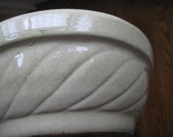 Vintage Beige Pottery Bowl