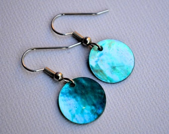 Turquoise Shells . Earrings . Marina Collection