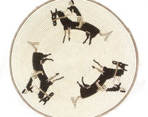 Swazi Basket by Easter Zulu Rider and Horse Prize Winner African 68489