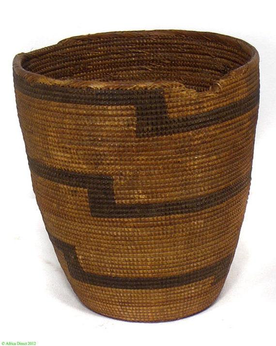 tutsi tight weave basket lid missing rwanda antique african. Black Bedroom Furniture Sets. Home Design Ideas