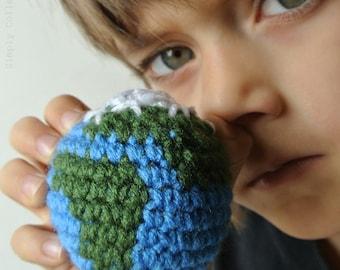 Crochet Pattern toy Earth Amigurumi Globe - educational crochet pattern