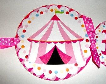 Circus Birthday Banner in Pink
