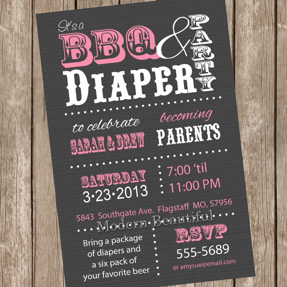 Couples Bbq Baby Shower