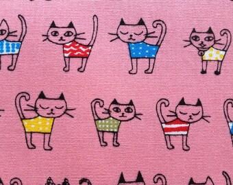 Half yard Japanese cotton fabric Cat printed