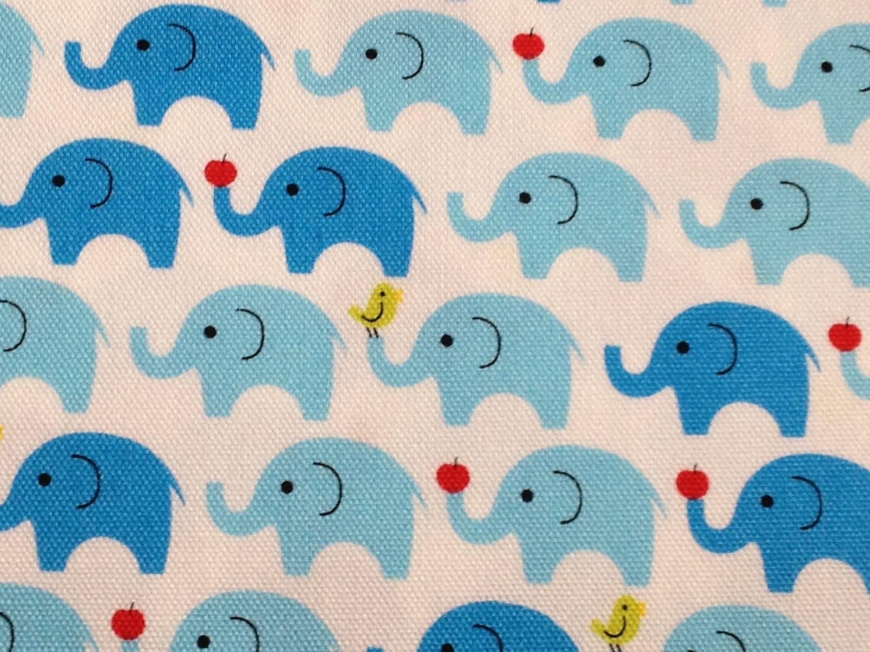 Japanese fabric elephant printed half yard for Elephant fabric