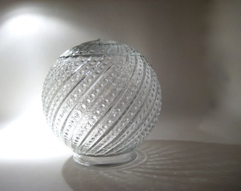 Vintage Glass Globe Light Fixture Cover