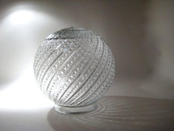 vintage glass globe light fixture cover. Black Bedroom Furniture Sets. Home Design Ideas