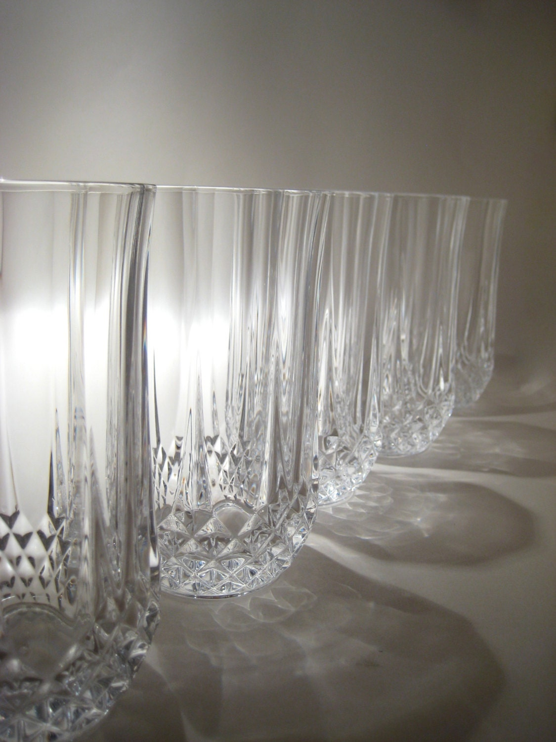 6 Cut Crystal Water Glasses