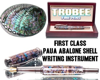 Abalone Shell Pen Fountain style or Rollerball Extremely high quality writing