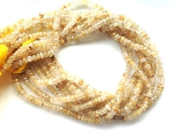 BLOWOUT SALE Last chance to Buy , 1 full strands -Goldel Rootile Beads-Micro Facetd Rondell 4.5-5mm Approx
