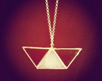 Trapezoid Stained Glass Necklace