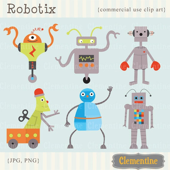 Robot clip art images royalty free commercial use Instant