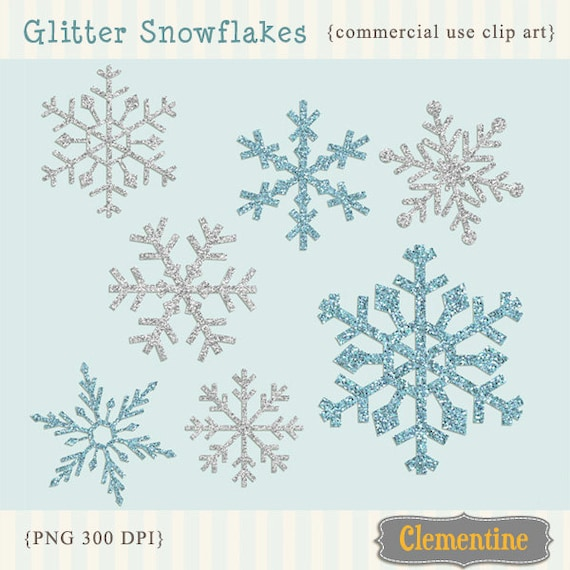 Snowflake Clip Art Free for Commercial Use