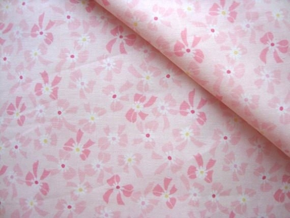 Japanese Fabric Cotton Yuwa - Sweet Ribbon pink - half yard