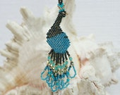 Beaded Peacock Earrings - Trendydeals