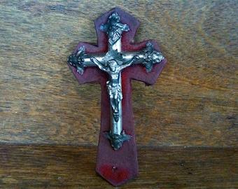 Antique French Jesus Cross Crucifix circa 1910's / English Shop