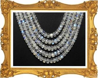 "BEST EVER AAA+ 16"" line  Moonstone Rainbow beads 3.5-7mm"