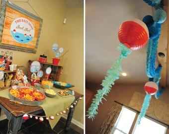 Gone Fishing Birthday, Fishing Birthday, Fishing Invitation, Gone Fishing Printables, Fishing Birthday Decorations, Lauren Haddox Designs