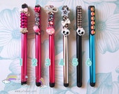 Crystals Sweets Kitty Skulls and Mario iPhone, iPad or Android Slim Stylus