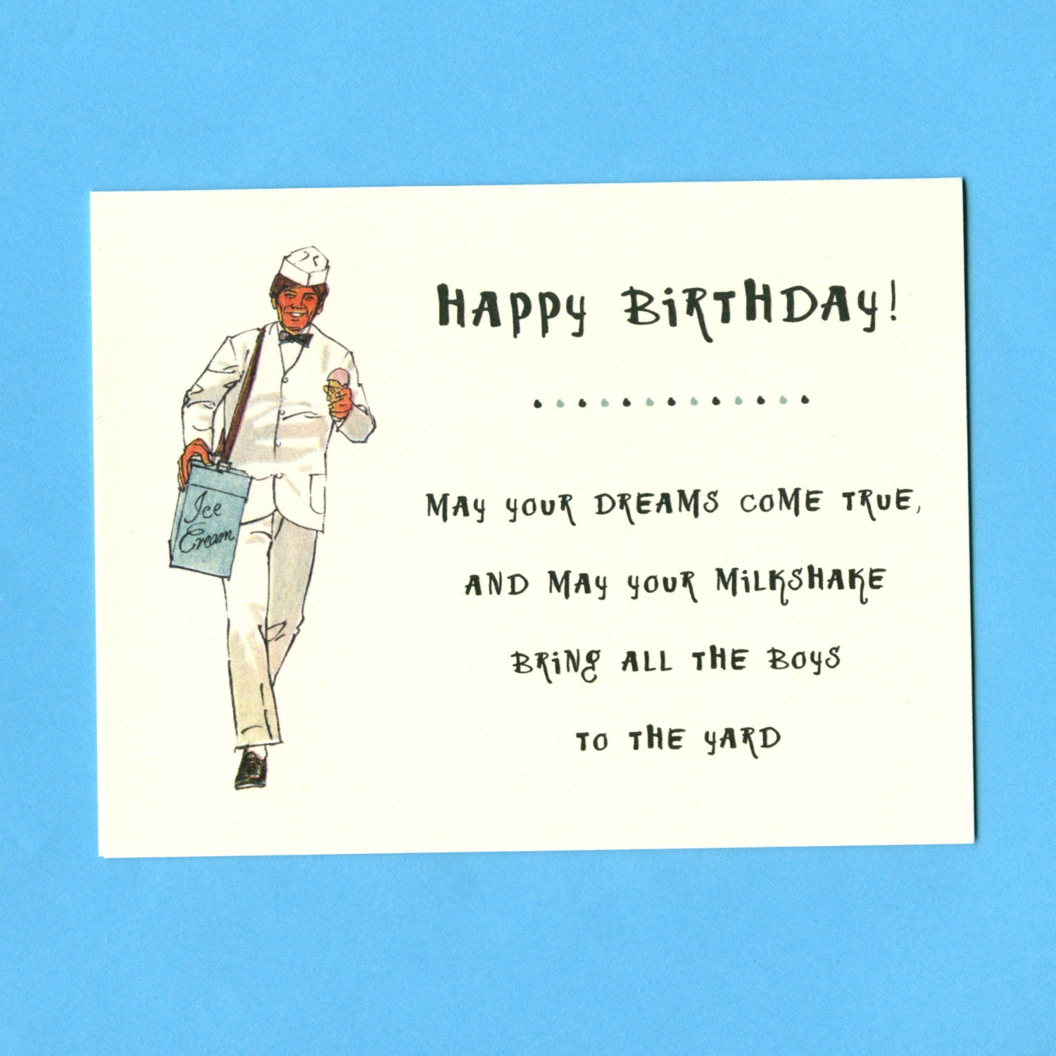Funny BIRTHDAY Card YOUR MILKSHAKE Weird Birthday By