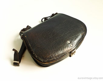 Vintage Leather Saddle Bag Shoulder Bag 60s Original