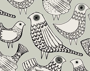Grey Birds, limited edition giclee print