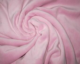80/20 CVc Cotton Velour  - Juicy Ice  Pink CVC Velour