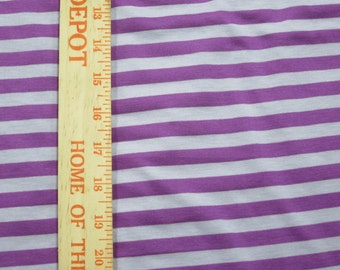 "Apx. 3/8"" Tone on Tone Violet Purple and LIghter Purple Stripe Knit FAbric"