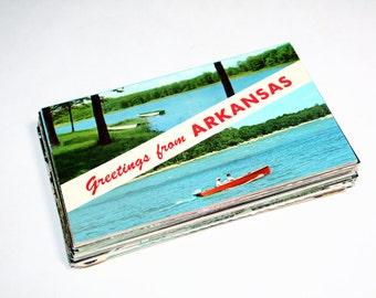 50 Vintage Arkansas Chrome Postcards Blank - Wedding Guestbook