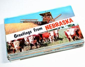 100 Vintage Nebraska Chrome Postcards Blank - Wedding Guestbook