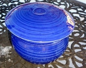 Porcelain French Butter Keeper in Cobalt Blue, foodie, gift, traditonal, food safe
