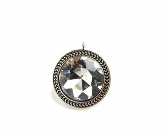 Large Faceted Crystal Focal Pendant