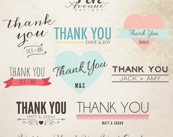 INSTANT DOWNLOAD - Thank You Word Overlays