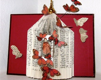 "Altered book "" A  fairy Tale Touch of Spring"""
