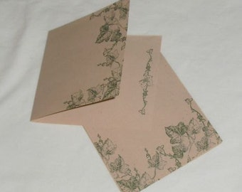 Garden Notes / Gift Tags / Up Cycled Notes / Set of 6