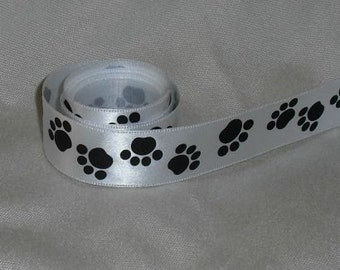 "Paw Print Ribbon...7/8"" X 5 yards"