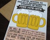 Printable Beer Bachelorette Invites