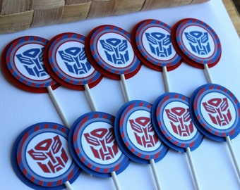 Transformers Cupcake Toppers - Optimus Prime