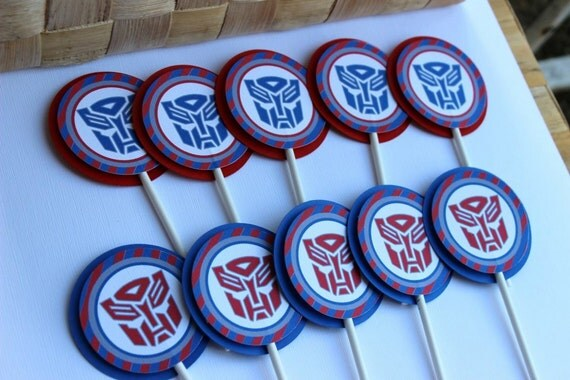 Transformers Cupcake Toppers Optimus Prime