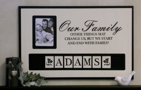 Personalized Wall Decor custom framed family wall art | www.tapdance