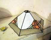 Stained Glass Hanging Lamp, flower hanging light
