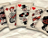 Art Deco Playing Cards ATC ACEO Card Games Twenties 20s 1920s Digital Collage Sheet Instant Download 088