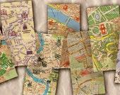Italy Street Maps Rome Florence Milan Pisa Venice Italian 1 x 2 inch Tourist Decoupage Domino Tiles Pendant Jewelry Bezels Collage Sheet 346