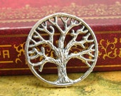 20 pcs Antique Silver Tree Charms Double Sided 20x20mm CH1348