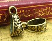 20 pcs Pendant Bails Nickel Free Antique Bronze Necklace Clasps CH1391