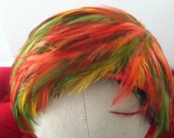 Vintage Multi Colored Feather Headband