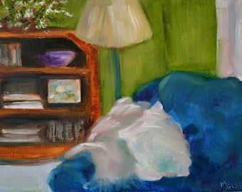Art Painting Still Life - Original Oil Painting Still Life - Interior Painting -  Fine art home decor - wall art -Small Painting