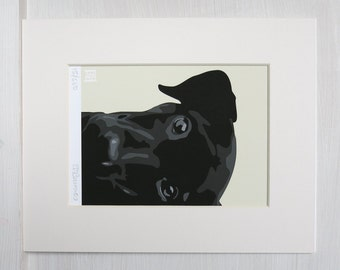 Black Labrador ART PRINT