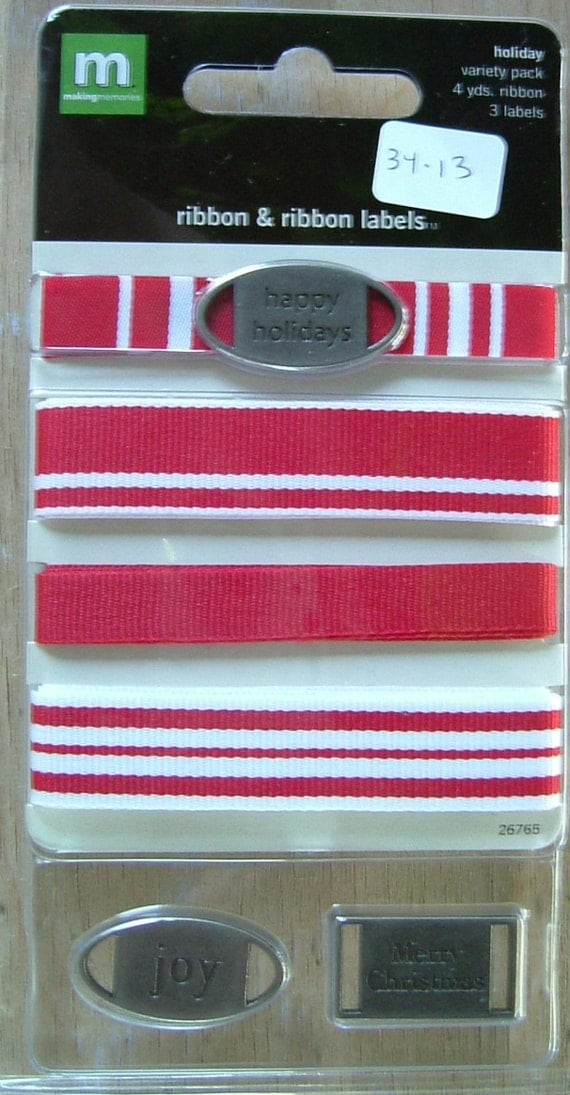Ribbon & Ribbon Labels Holiday